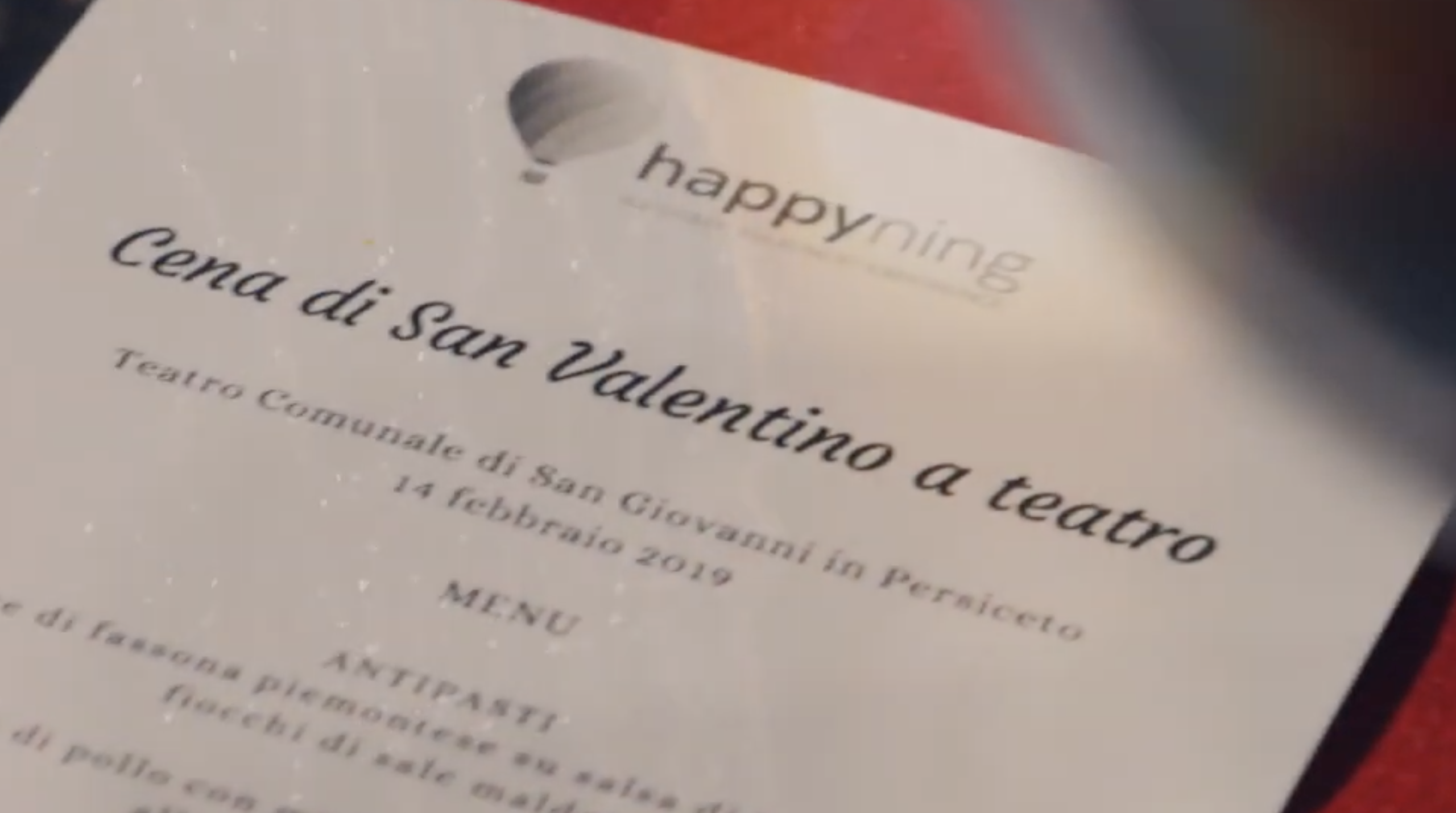 Happyning: Cena di San Valentino a Teatro